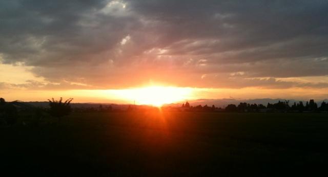 夕日 これを見ると癒される
