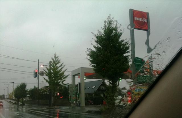 台風が近づいている米沢市