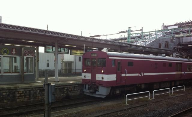 米沢駅の試験電車