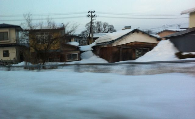 電車から外の光景