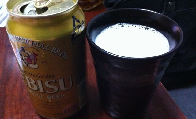 深夜のビール