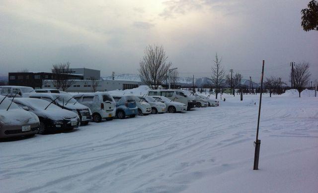 昨日の駐車場