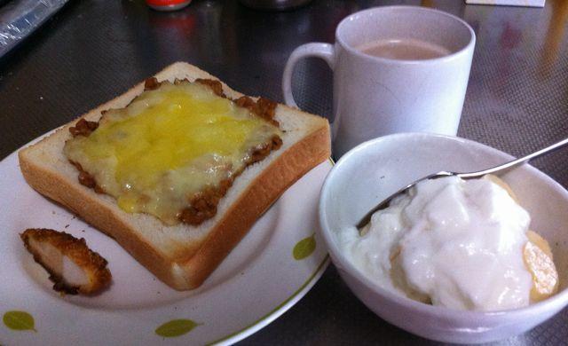 実はちょっとこった朝食