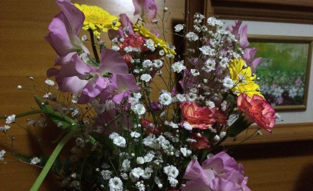 転勤の花束